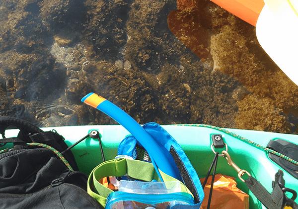 Ruta en kayak de mar con snorkel por el parque natural del estrecho