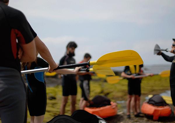 Campamento verano-aprendiendo a remar-kayak