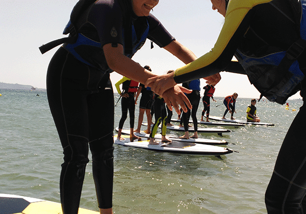 campamentos de verano en Getares Paddle surf